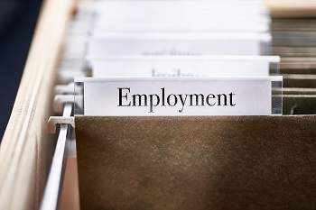 File folder labeled Employment
