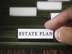 File with tab saying Estate Planning