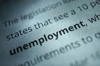 the word unemployment highlighted
