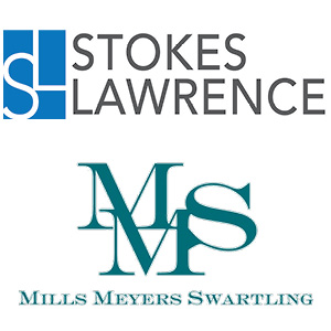 Stokes Lawrence and Mills Meyers logos